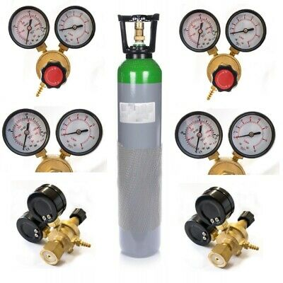 Argon Gas FULL Bottle Cylinder Ar 8L 150~180Bar MIG TIG Weld Cut + Gas Regulator