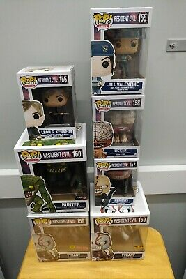 Funko Pop Resident Evil Lot - Jill, Licker, Tyrant & Hunter - Exclusives