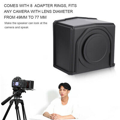 Portable ABS Phone Use Forum DSLR Camera Mini With Adapter Ring Teleprompter Set