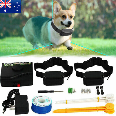 2019 RECHARGEABLE Dog Fence Hidden Electronic Electric Fence System WATERPROOF