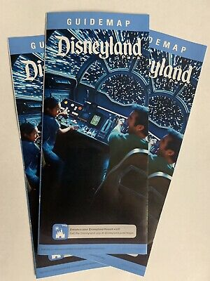 Disney Disneyland Guide Map With Star Wars Land Galaxy's Edge 2019