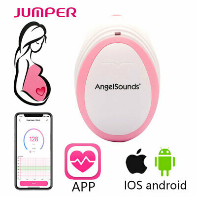 AngelSounds Baby Fetal Doppler Heart Rate Monitor 3MHz + Batteries + Earphone