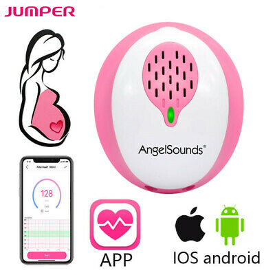 AngelSounds Baby Doppler Fetal Heart Rate Monitor Heartbeat Detector W/ Earphone