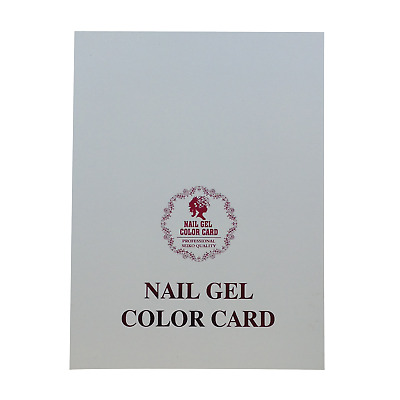 Nail Gel Colour Color Swatch Card Display Book Art Accessories