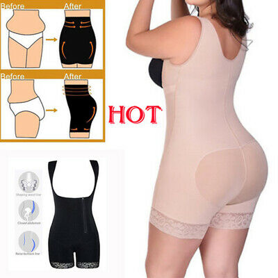 Plus Size Women Shapewear Full Body Shaper Waist Trainer Bodysuit Lingerie