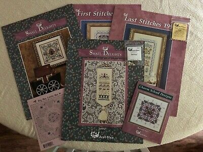 Vintage Just Nan bundle - 6 charts - Some with embellishments, some chart only