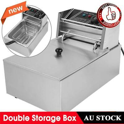 AU Plug 6L Commercial Electric Deep Fryer Frying Single Basket Chip Cooker