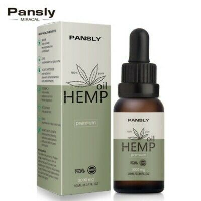 3000mg Hemp Oil for Pain Relief Anxiety Sleep Anti Inflammatory Extract Drops US