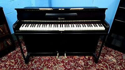 """Small, Black, """"KEMBLE MINX"""" Overstrung Piano.5 yr Warranty, NATIONWIDE DELIVERY."""