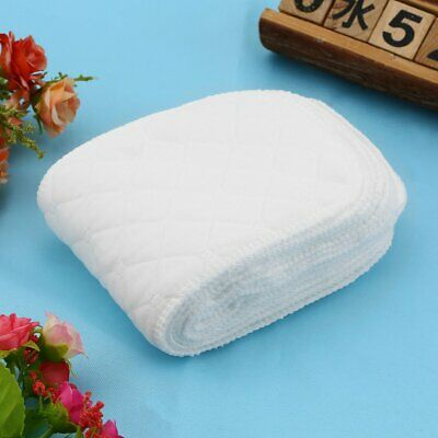 10 Pieces Reusable Pure Cotton Baby Cloth Diaper Nappy Liners Insert 3 Layers DX