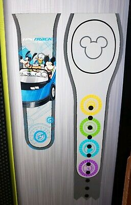 Disney Epcot Test Track Mickey Goofy Donald Gray Magic Band 2 Magicband Parks
