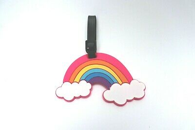 New Rainbow Luggage Tag | Suitcase Bag Baggage Backpack ID Travel Kids Pink