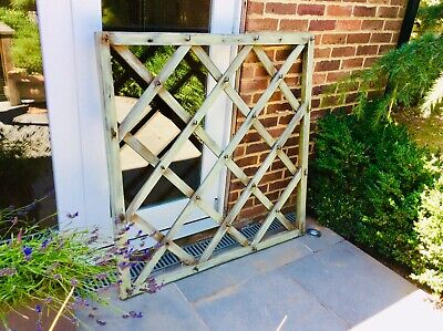 Vintage Large Square Wooden Garden Trellis Plant Climber French Farmhouse