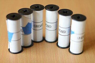 120 Film Spools for Re-Rolling Supplies Ilford Misc Backing Papers Qty:6