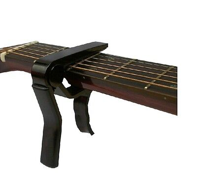 Black Guitar Capo Clamp For Electric & Acoustic Guitar Quick Trigger Release UK