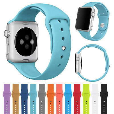 Rubber Bracelets Silicone Straps for Apple Watch Bands 38mm 42mm Series 4 3 2 1