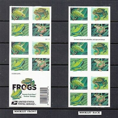USA BOOKLET FOREVER SC# 5398b FROGS - 20 S.A. STAMP PL# B1111- MNH