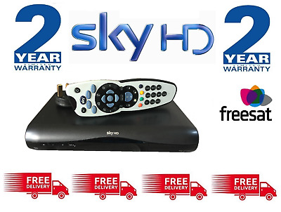 SKY HD Digibox & Remote - Latest Slimline DRX-595 - FREESAT **2 Year Warranty**