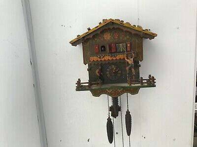 automaton and musical triple weights mechanical cuckoo clock