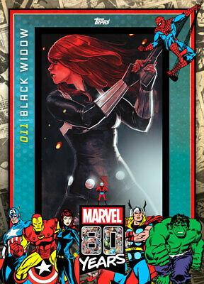 Topps Marvel Collect Black Widow #11 80 Years Celebration [DIGITAL CARD] 800cc