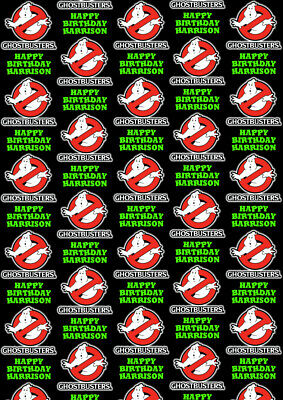 Personalised Christmas Gift Wrap GHOSTBUSTERS 2016 Style a