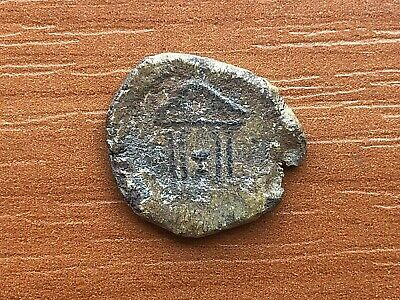 Ancient Late Roma or Byzantine Medieval Lead Seal TEMPLE Very Rare