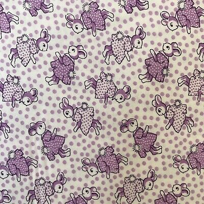 Nana Mae 1930/'s Reproduction Quilt Fabric Tossed Puppies Style 6746//11 Blue