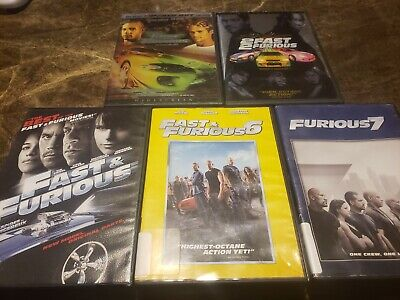 lot of 5 fast and furious dvds.  great lot...
