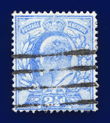 1902 SG231 2½d Pale Ultramarine M16(3) Good Used Cat £12 cmzb