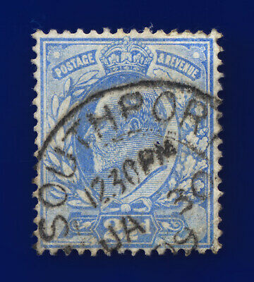 1902 SG231 2½d Pale Ultramarine M16(3) Southport JA 30 09 Good Used Cat £12 cmys