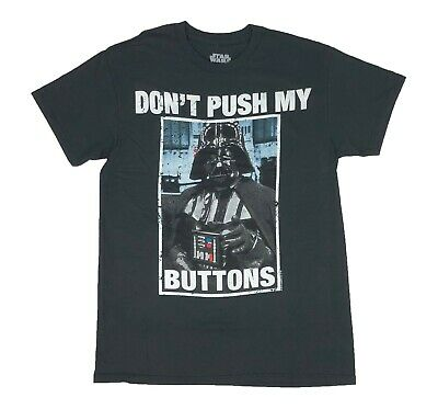 Star Wars Darth Vader Don't Push My Buttons Funny Movie Tee Men's T Shirt S-XL