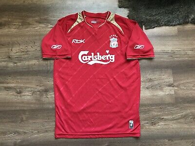 Liverpool England 2005/2006 Champions League Home Football Shirt Jersey Reebok