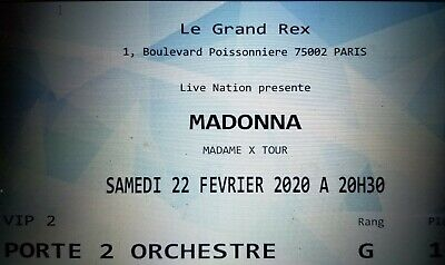 Madonna Madame X Tour paris 2 Package VIP tickets