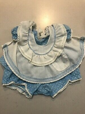 My Child Doll Original Blue Hearts Pinny Dress Outfit