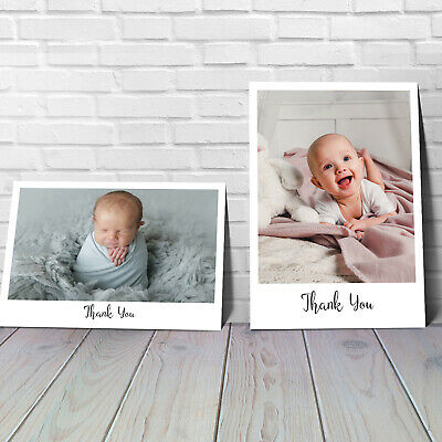 Personalised Baby Thank You Cards Photo Birth Announcement Girl or Boy