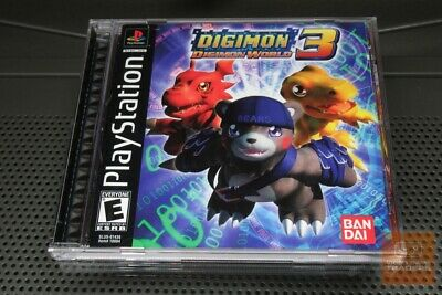 DIGIMON WORLD PS1 PS2 PLAYSTATION raise Digimon monsters RPG