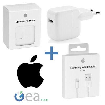 Charger Original Apple 12W MD836 + Cable Lightning 1mt MD818 for IPHONE X