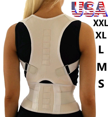 Posture Corrector Back Brace Shoulder Support Magnetic Wrap Pain Belt Men Women