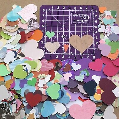 Scrapbooking Cardmaking Paper Punchies Mixed Hearts