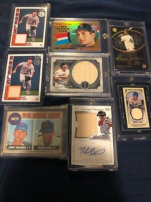 BASEBALL HOT PACK Guaranteed AUTO or GAME USED Card LOT ROOKIE Mike Trout Yelich
