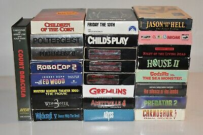 LOT of 25 HORROR VHS - Gore, Friday 13th, Child's Play, Poltergeist, Witchcraft