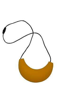 Original Mumma Bubba Silicone Teething Necklace Style::cleopatra :: Yellow