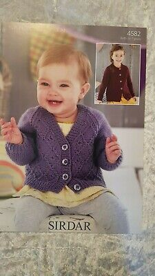 Sirdar Knitting Pattern #4582 Childs Cardigan to Knit in Snuggly DK