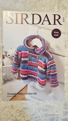 Sirdar Knitting Pattern #5211 Baby Duffle Coat to Knit Snuggly Baby Crofter DK
