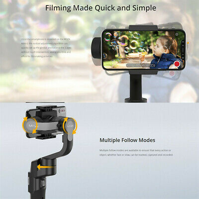 MOZA Mini-S 3-Axis Handheld Gimbal Stabilizer Fast Switching for Phone Foldable