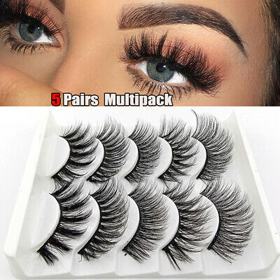 Lashes Thick Cross 3D Soft Faux Mink Hair False Eyelashes Extension Tools