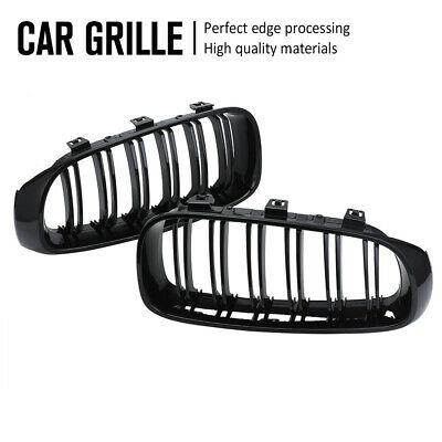 For BMW 3-Series F34 GT 320i 328i 318d 320d 14-16 Front Grille Grill Gloss Black