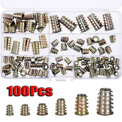 M4 M5 M6 M8 M10 Screw-in Insert Nuts with Hexagonal Socket Wood Nut