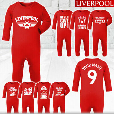 Liverpool FC Retro Baby Candy Sleepsuit LFC Official
