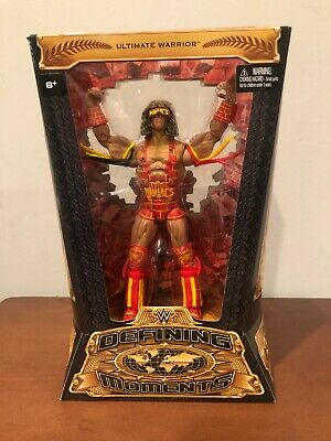 WWE Defining Moments ULTIMATE WARRIOR Wrestling action figure NIP Maniacs Mattel